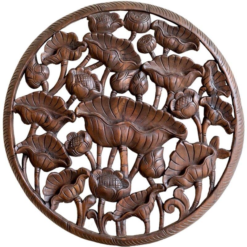 異麗木雕掛件客廳玄關裝飾畫壁飾壁掛雕花花格中式柚木古雕花板