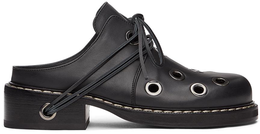 Sunnei 黑色 Buco Sabot 牛津鞋