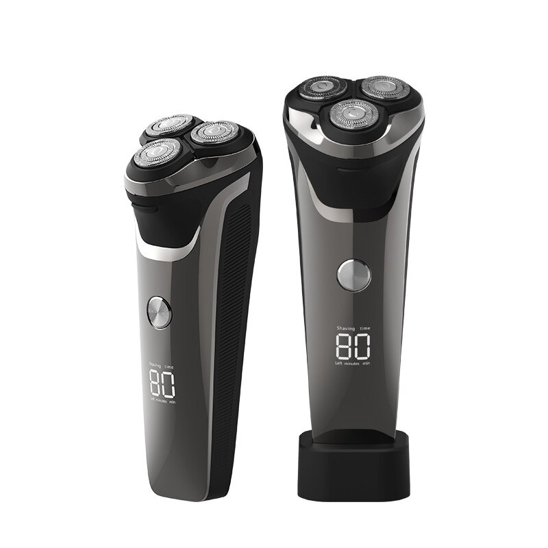 液晶數顯電動剃須刀 USB智慧男士全身水洗充電式刮胡刀