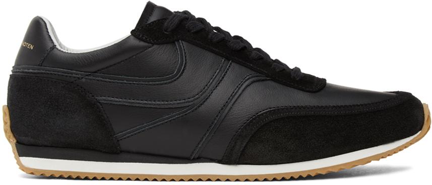 Dries Van Noten 黑色皮革运动鞋