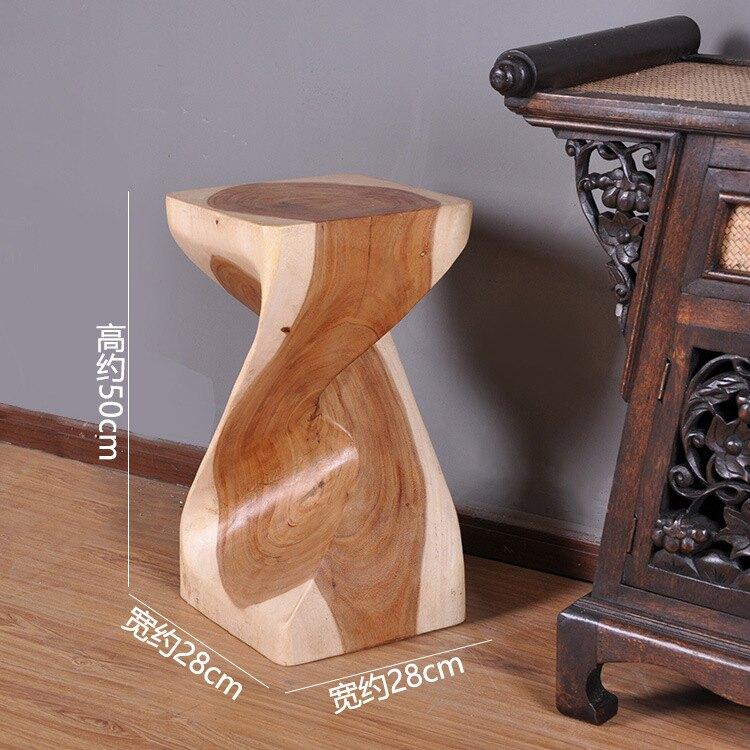 進口現代簡約純實木藝術凳高50cm家用高凳酒吧凳曲木凳家用吧臺凳