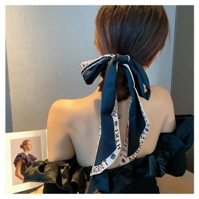 梨花HaNA 韓國法式名媛下午茶慵懶絲帶.絲巾飄帶可綁包包頭髮