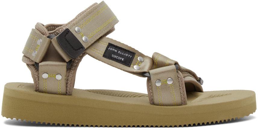 John Elliott 绿色 Suicoke 联名 Kipa-Cab 凉鞋