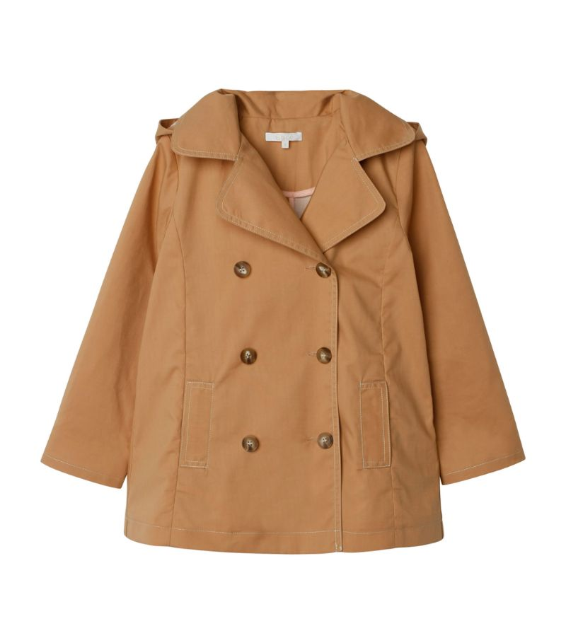 Chloé Kids Hooded Trench Coat (3-14 Years)