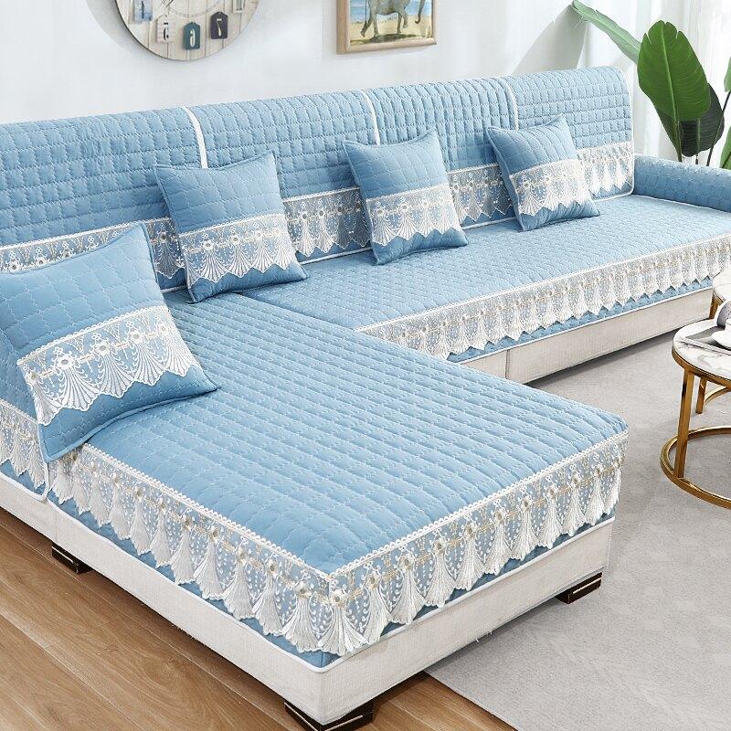 沙發墊  夏季沙發墊定做防滑坐墊北歐布藝簡約現代沙發座墊套罩蓋布巾