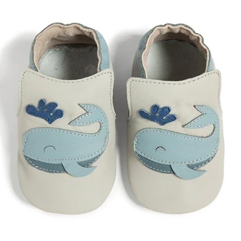 英國 shooshoos 健康無毒真皮手工鞋/專業真皮學步鞋/專業嬰兒鞋_開心鯨魚_SS103951