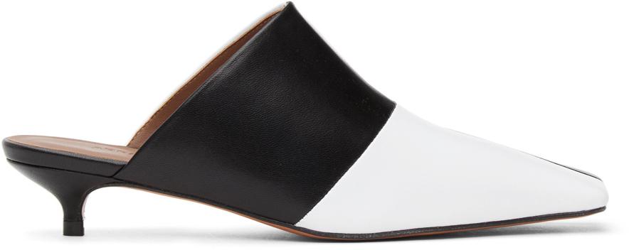 Abra 黑色 & 白色 Lord 穆勒鞋