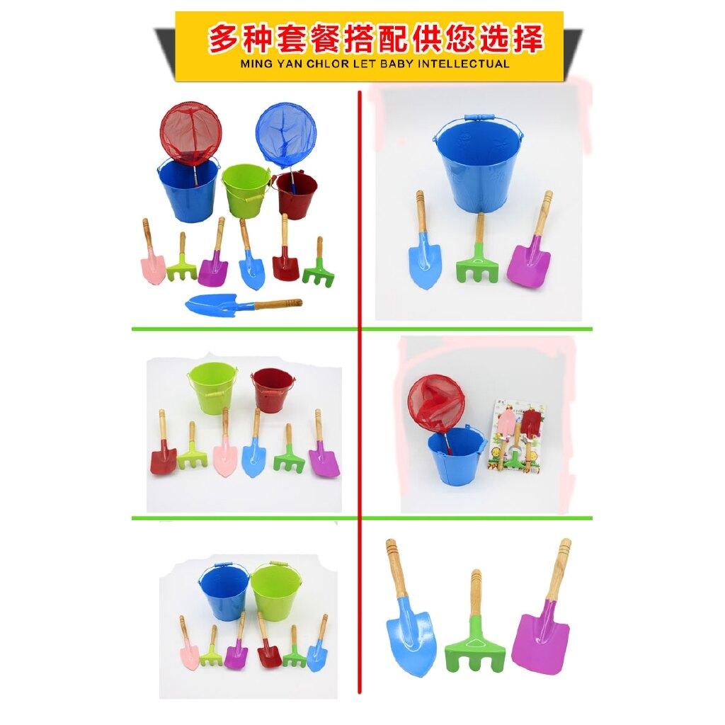 熱銷新品 兒童沙灘玩具 加厚大號鐵桶套裝小鏟子男孩女孩海邊戲水挖玩沙工具