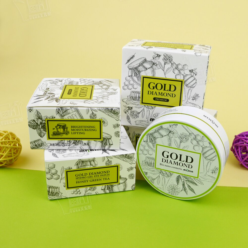 韓國製MISKIN黃金鑽石第三代蜂蜜綠茶貴婦眼膜凝膜補水保濕舒緩安撫/60片