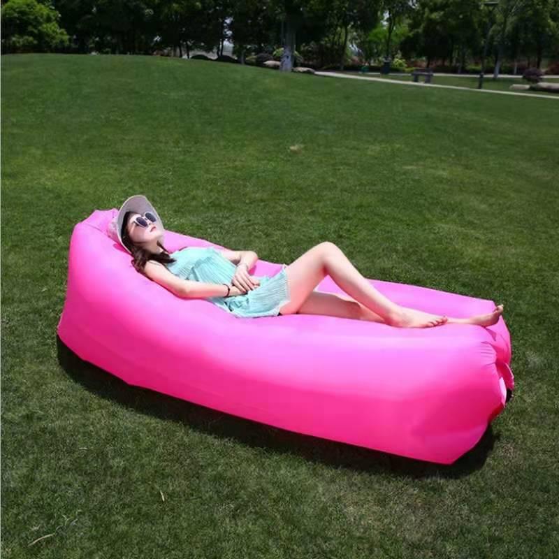 戶外網紅空氣沙發懶人充氣沙發袋便攜野營沙發充氣床墊音樂節躺椅