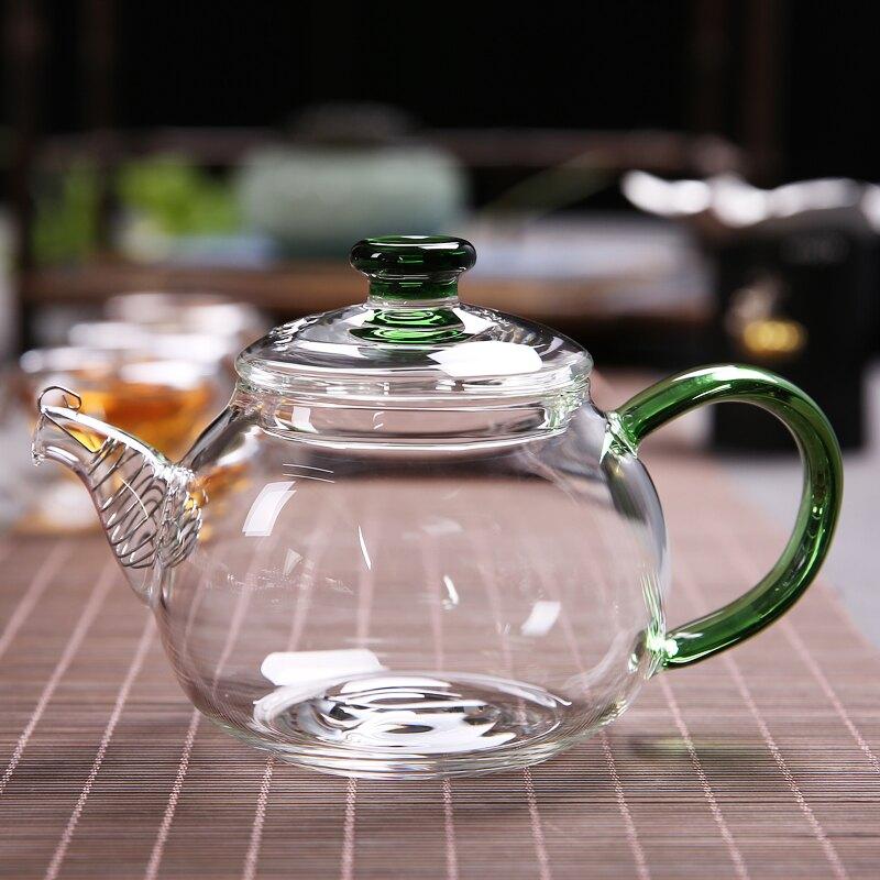 傳藝窯耐熱玻璃茶壺貴妃壺功夫茶具小茶壺透明過濾泡茶壺迷你單壺