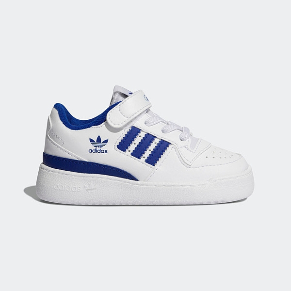 Adidas Forum Low I [FY7986] 小童鞋 運動 休閒 魔鬼氈 經典 保護 舒適 愛迪達 白 藍