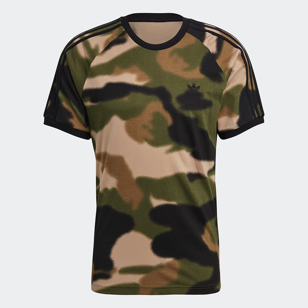 【現貨】Adidas Originals CAMO 3-STRIPES 男裝 短袖 T恤 噴霧迷彩【運動世界】GN1882