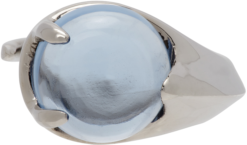 Alan Crocetti SSENSE 独家发售银色 Crystal Climax 托帕石戒指