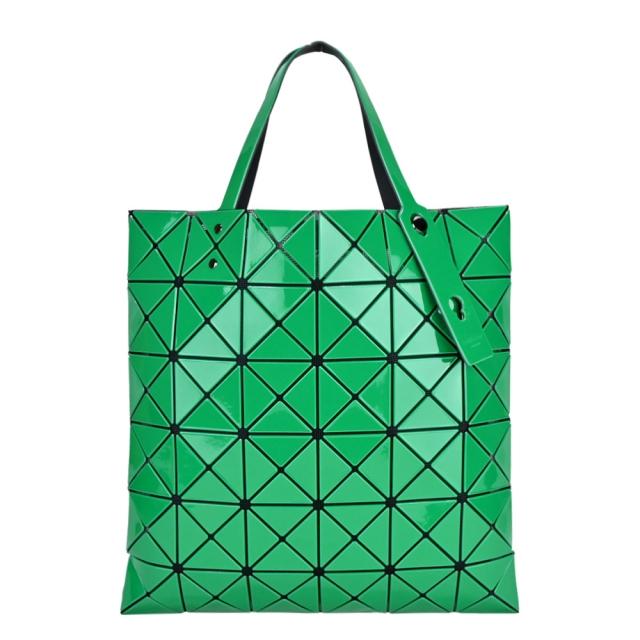 ISSEY MIYAKE 三宅一生 BAOBAO 6x6亮面手提包-綠