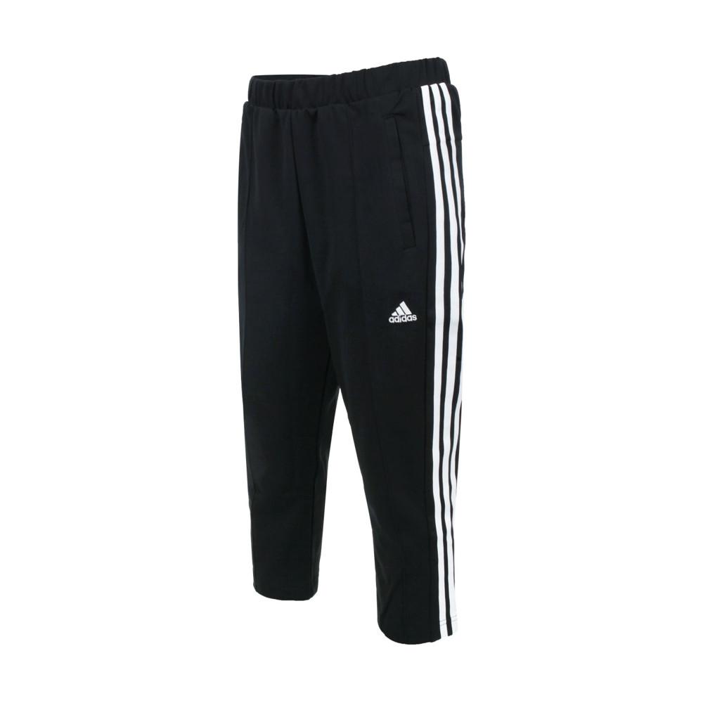 adidas 女運動長褲-亞規 針織 慢跑 路跑 吸濕排汗 愛迪達 黑白