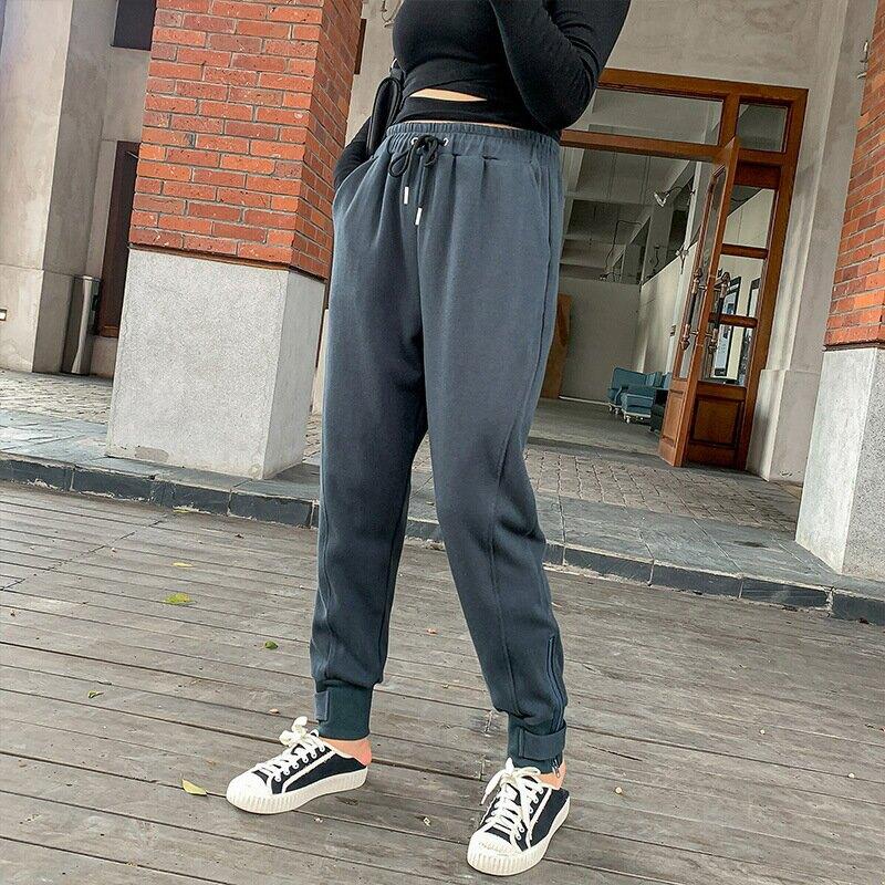 中大尺碼女裝2021春季新品200斤胖mm加大加肥拉鍊束腳休閒褲