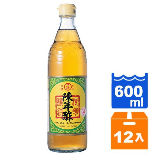工研 陳年酢 600ml (12入)/箱【康鄰超市】