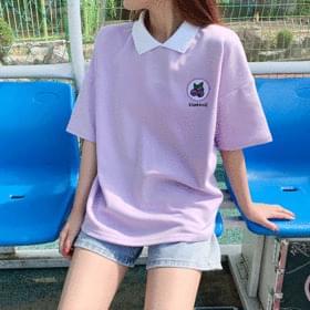 韓國空運 - Fruit Fruit Cara Short Sleeve Tea 短袖上衣