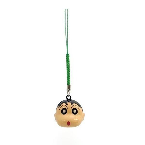 小禮堂 蠟筆小新 造型金屬鈴鐺吊飾 鈴鐺鑰匙圈 金屬吊飾 (米 大臉) 4544815-03745