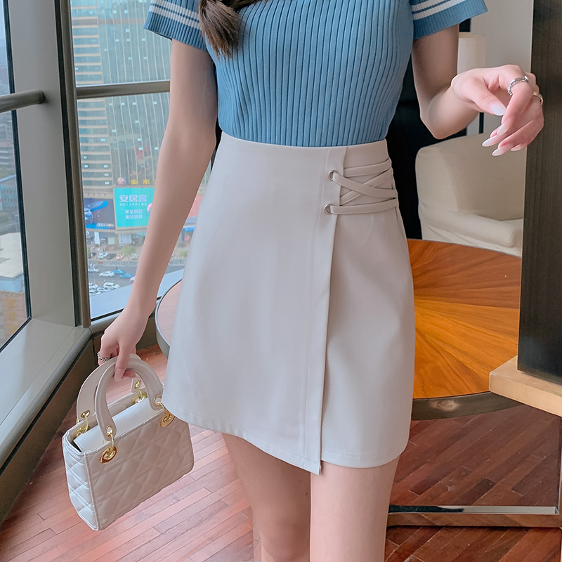 半身裙不規則褲裙西裝短裙女 時尚高腰a字顯瘦短裙韓版合身顯瘦氣質款優雅設計感包臀裙
