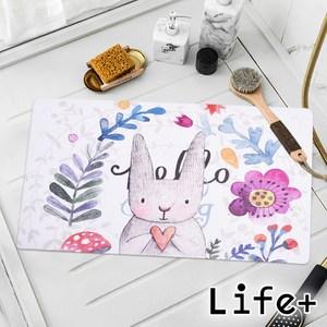 【Life+】悠然時光浴室吸盤防滑地墊/止滑墊/腳踏墊新款(多款任選)花朵兔