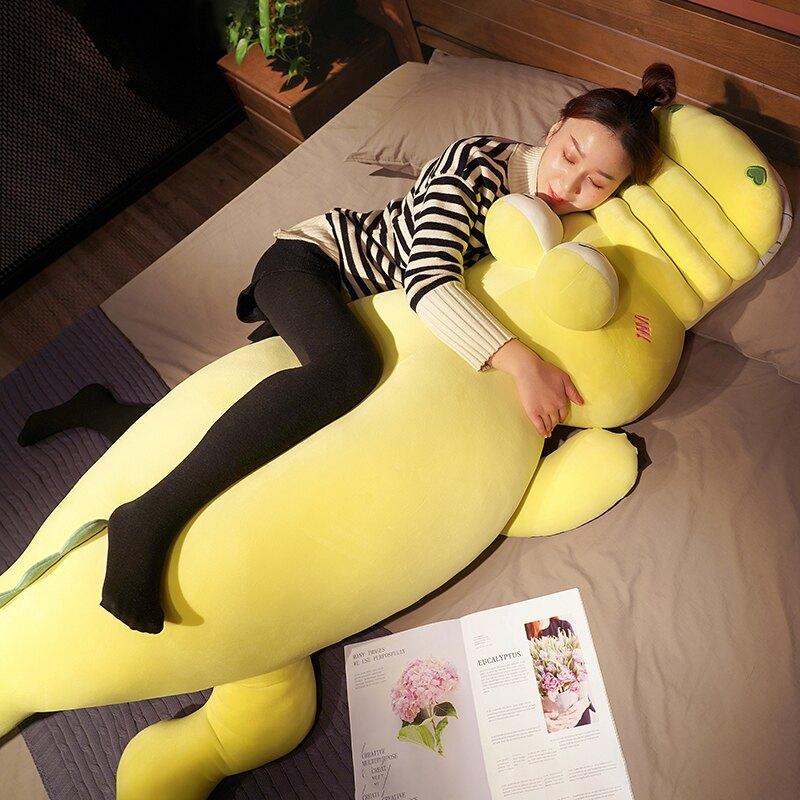 搞怪可愛鱷魚恐龍毛絨玩具公仔娃娃女孩床上睡覺抱枕玩偶大號超軟