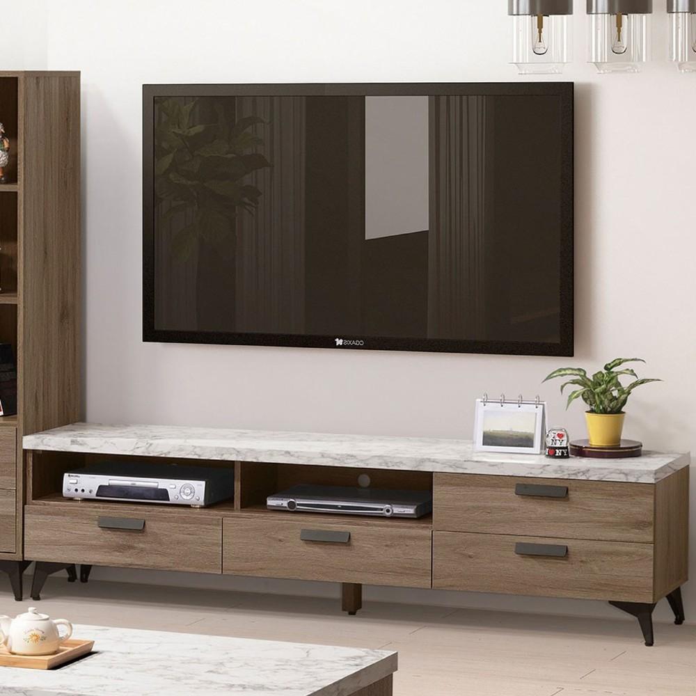 180cm電視櫃-a340-3客廳組合長櫃 展示收納櫃 北歐工業風 tv櫃 金滿屋