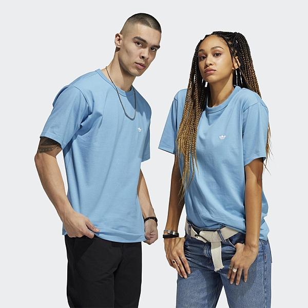 Adidas Originals Shmoofoil 男裝 女裝 短袖 T恤 情侶 小精靈 幽靈 素面 藍【運動世界】GL9937