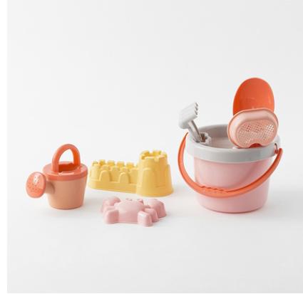北歐兒童沙灘玩具套裝大號寶寶挖沙玩沙鏟子戲水洗澡 高品質8件套