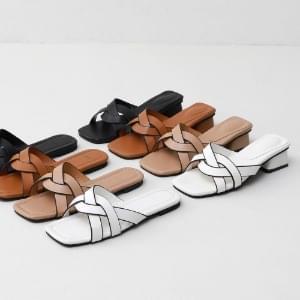 韓國空運 - ITSHU braid border strap slippers & mules 9040 涼鞋