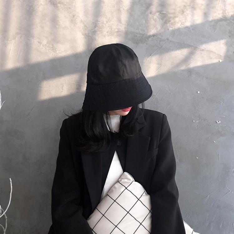 遮陽帽 防曬遮陽漁夫帽女小眾鐘形日系盆帽秋韓版潮ins水桶百搭太陽帽子 夏季新品
