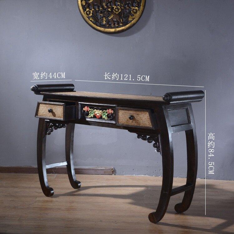 進口書房家具實木書桌新中式仿古雕花桌玄關門廳古典供臺供桌條案