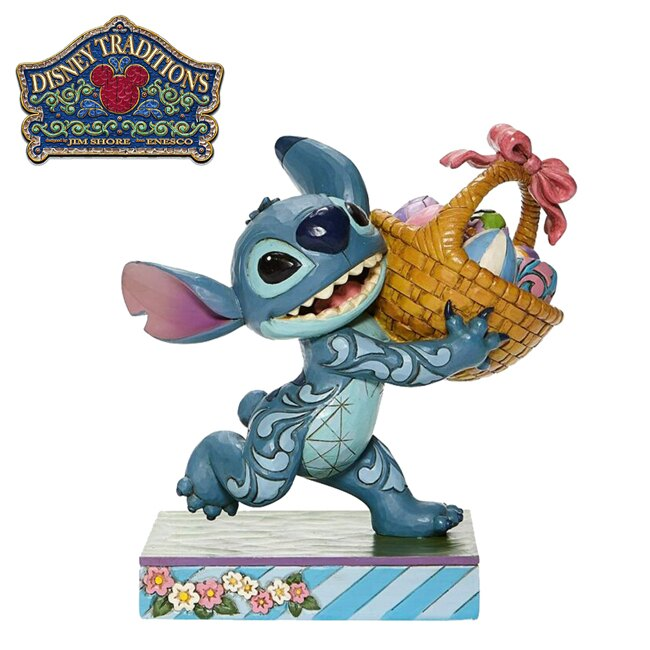 【正版授權】Enesco 史迪奇 復活節蛋 塑像 公仔 精品雕塑 Stitch 星際寶貝 迪士尼 - 282494