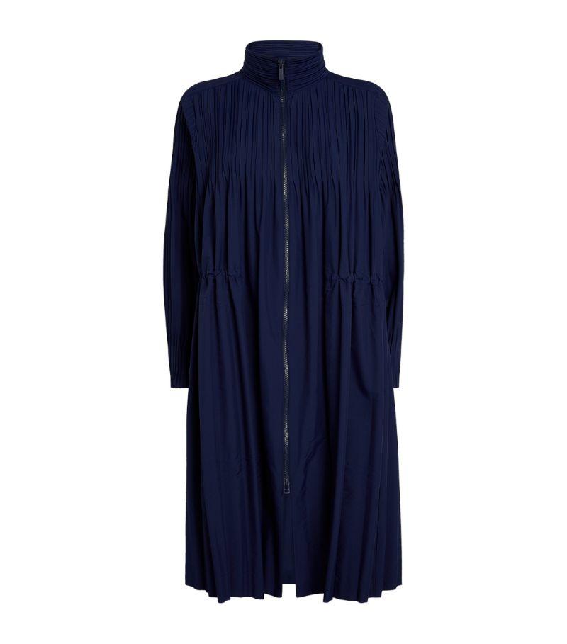 Pleats Please Issey Miyake Jaunty Coat Drawstring Coat