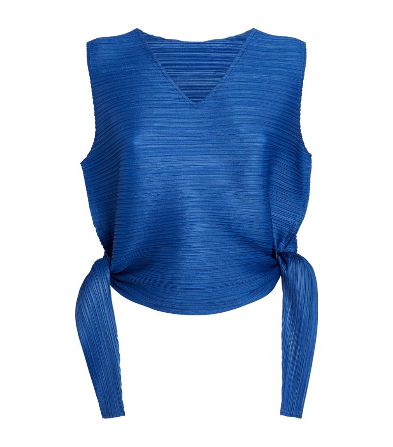 Pleats Please Issey Miyake V-Neck Sleeveless Top