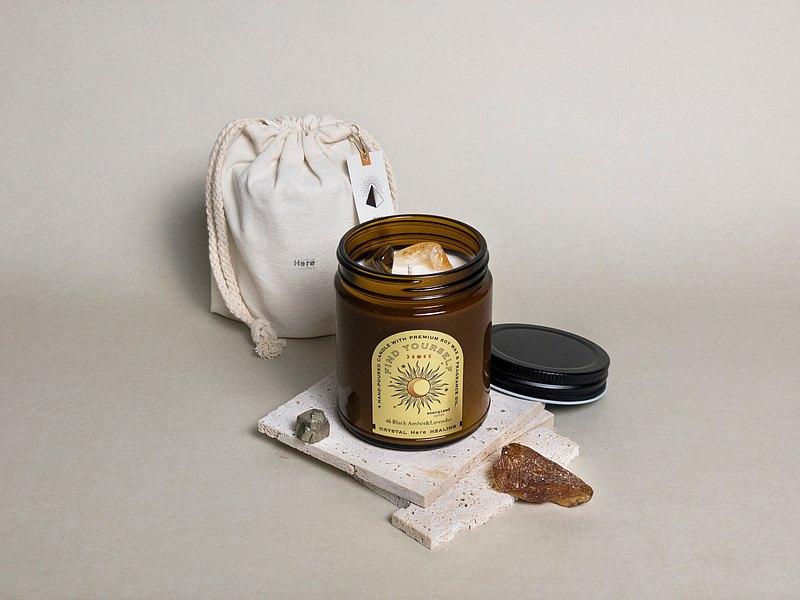 HERE_CRYSTAL HEALING 水晶原礦香氛蠟燭200g