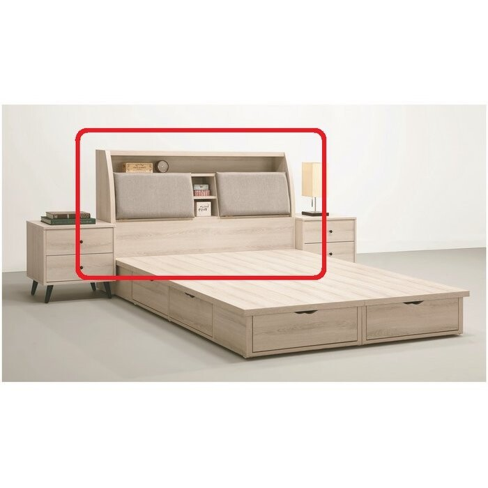 新精品af-556-1  福凱灰橡5尺枕型床頭箱  台北到高雄滿三千搭配車趟免運費