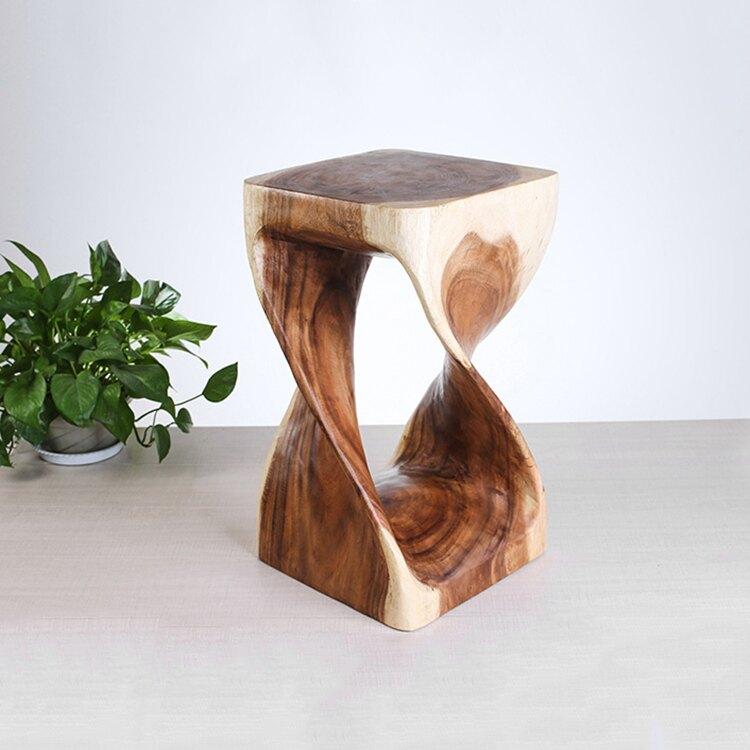 泰國進口創意彩色實木小凳子矮凳家用藝術簡約木凳子實木墩子熱賣