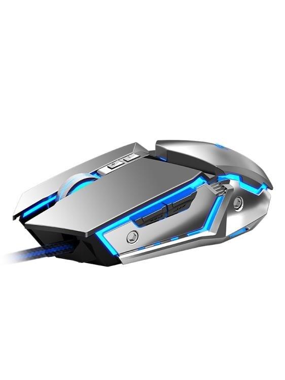 【八折】電競滑鼠有線宏滑鼠機械筆電游戲臺式usb靜音無聲專用