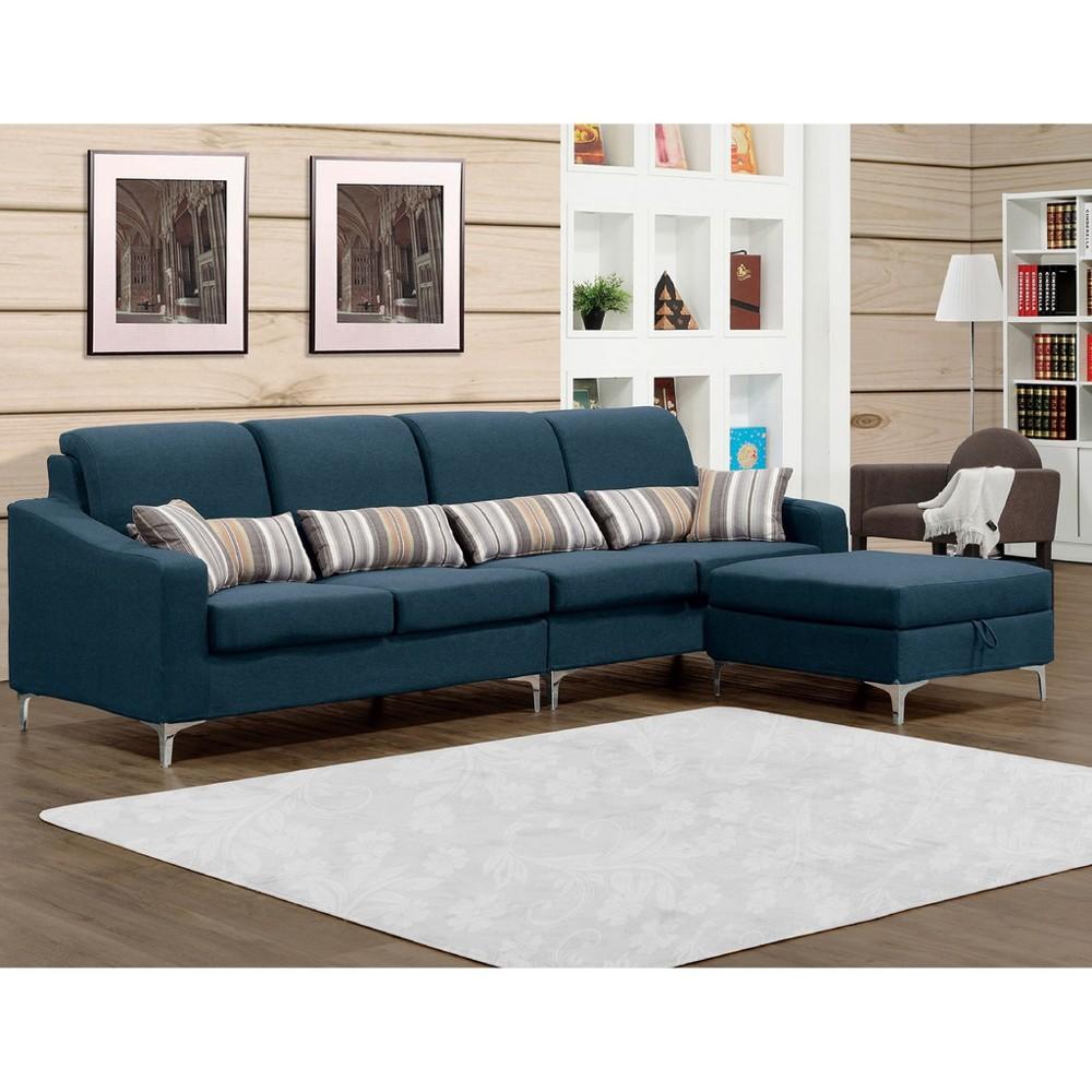273cml型布沙發-a226-2 單人座 l型沙發 貓抓皮 布沙發 沙發床 沙發椅 金滿屋