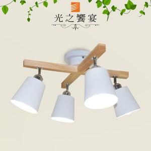 【光之饗宴】新威靈頓(白罩) 4 IC 半吸頂燈