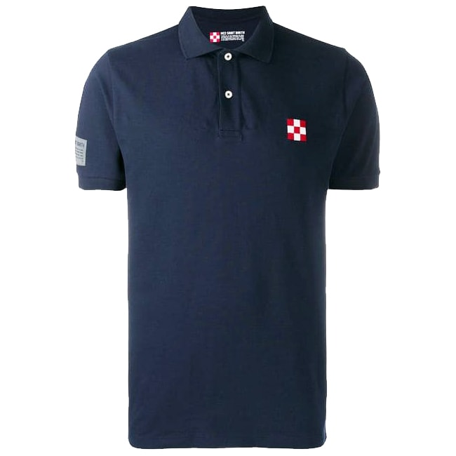 Front Embroidery And Back Print Kids Piquet Polo
