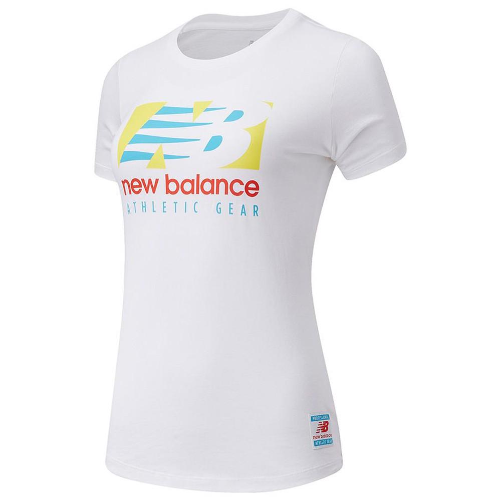 New Balance 女裝 短袖 休閒 基本款 棉質 LOGO 白【運動世界】AWT11507WT