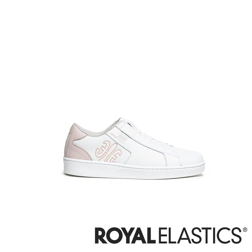 ROYAL ELASTICS Adelaide 粉白真皮時尚休閒鞋 (女) 92603-001