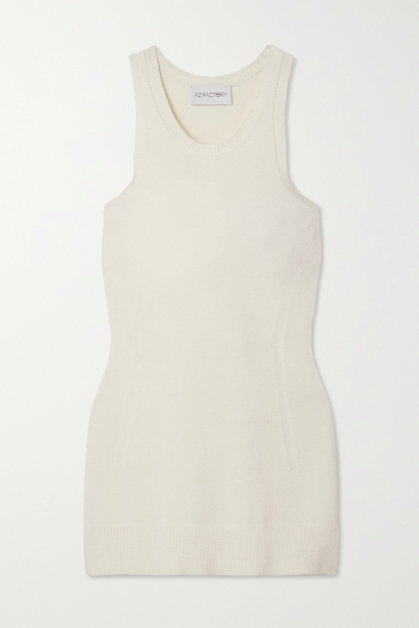 AZ FACTORY - Mybody Stretch-knit Tank - White - XXS
