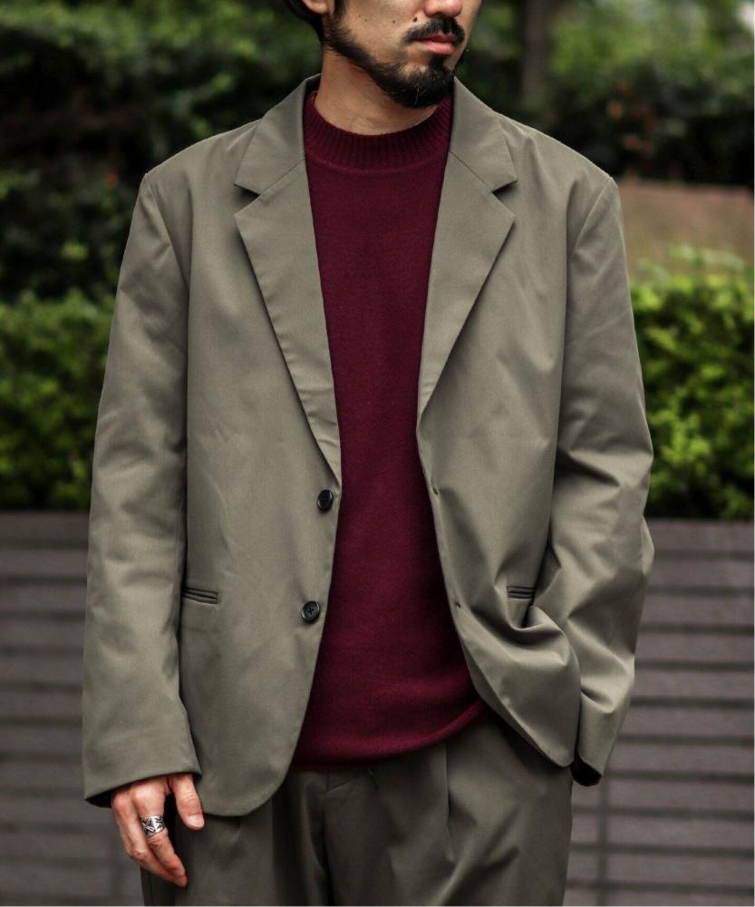 素色彈性西裝外套