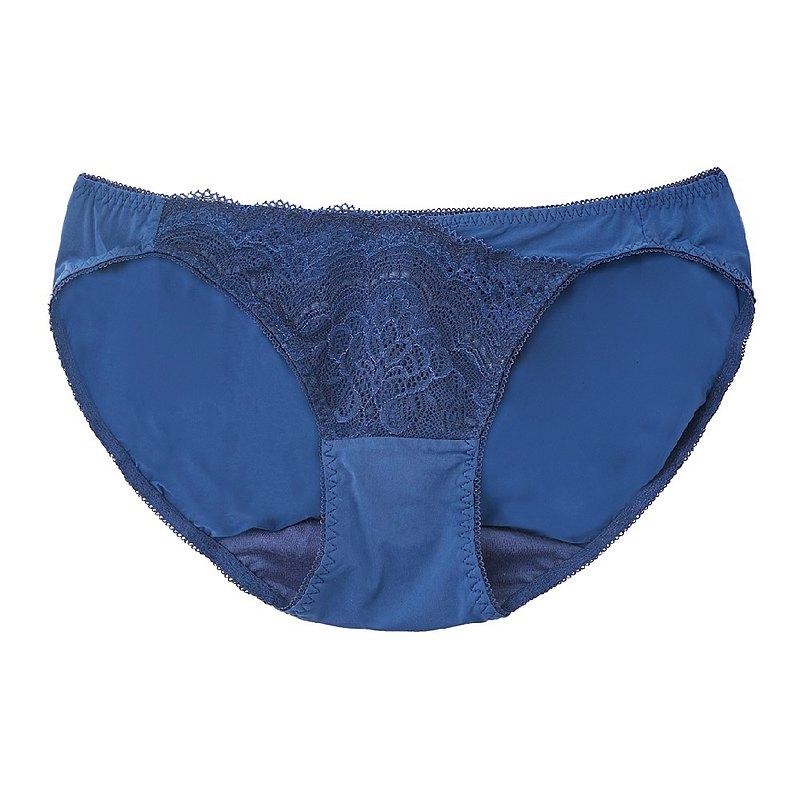 【玳蕾綺】萊卡低腰三角內褲-暗夜藍-海鷗線無鋼圈拉提款配褲