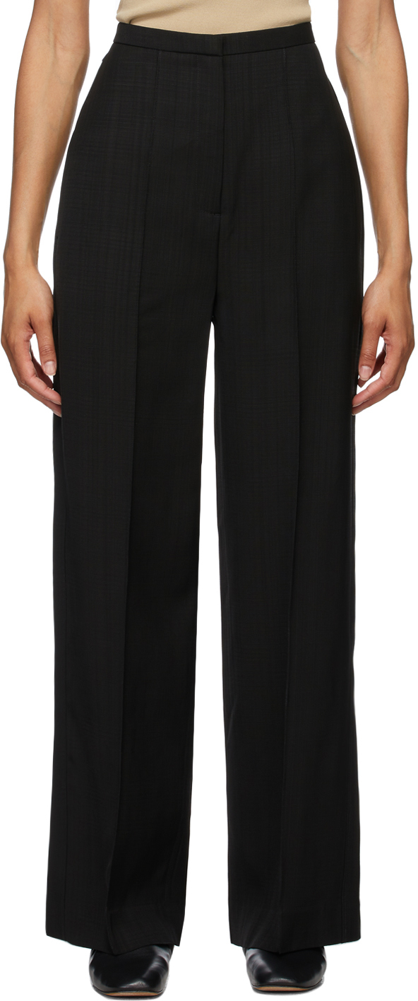 Totême 黑色 Pine Suit 长裤