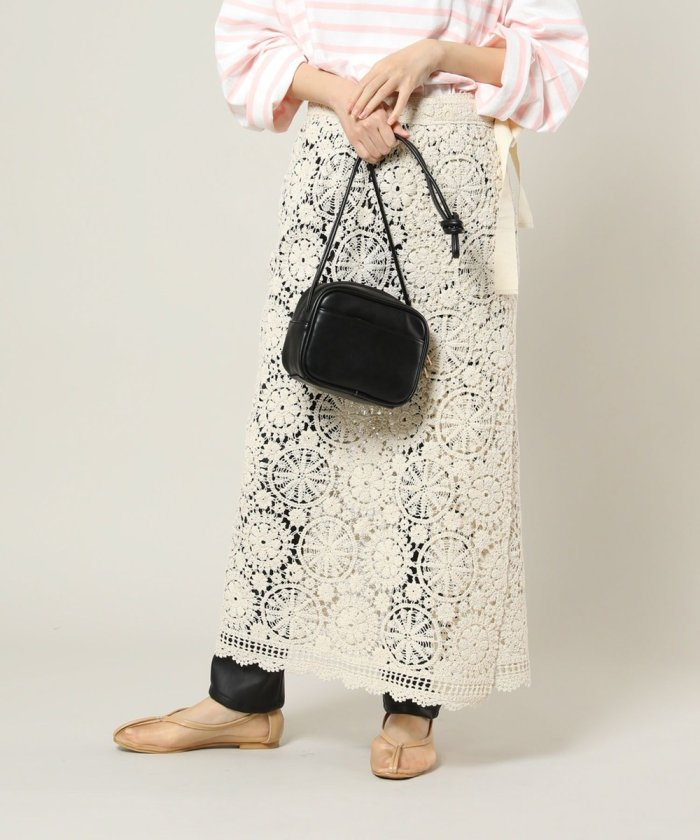 勾針編織風裹布長裙